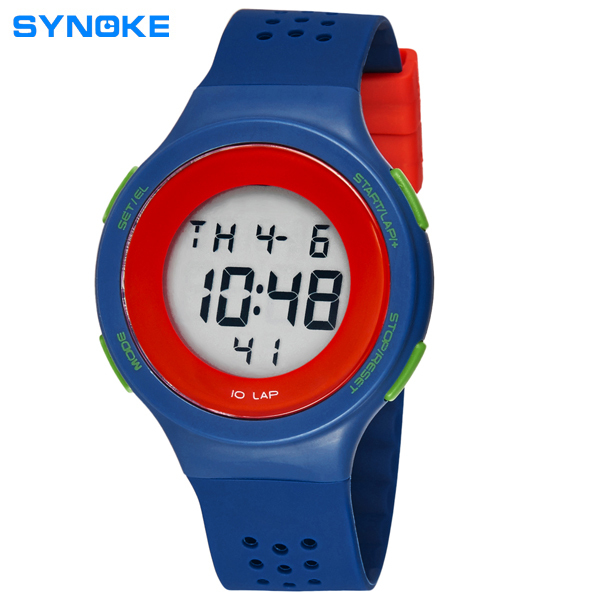 SYNOKE Brand Watches Women Men Watch Swim Breathable Digital Watch Metrosexual Classic Preferred 6 Colors 67866