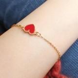 Fashion jewelry Cheap Vintage Love Heart Enamel Charm Bracelet for Women   free shipping(China (Mainland))