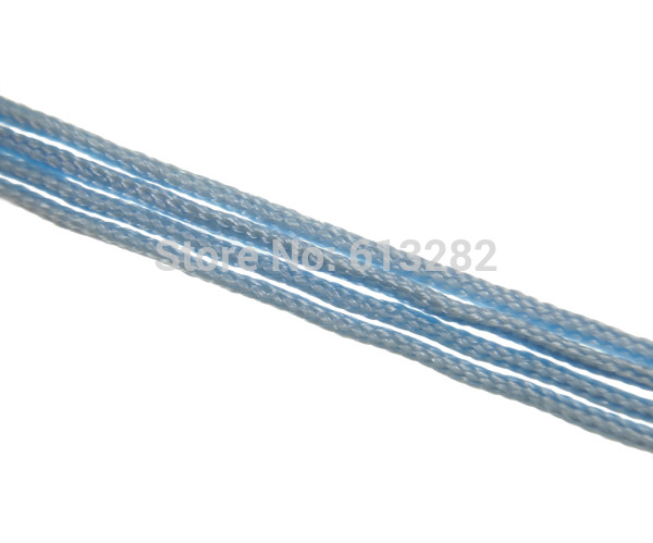 Free shipping!!!Polyester Cord,Punk Style, light blue, 1mm, Length:2600-2800 m, 10Bags/Lot, 10PCs/Bag, Sold By Lot(China (Mainland))