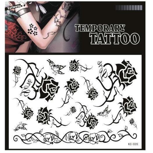 Free shipping 2015 high quality waterproof tattoo sticker Tattoos paste flower rose pattern(China (Mainland))