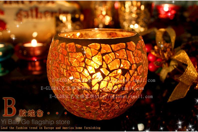 Marine Series glass Candlestick Creative Mediterranean Lantern Vintage Candle Holders Wooden Wedding Candleholder(China (Mainland))
