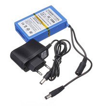 New 12V 3000mAh Lithium-ion Super Rechargeable Battery Charger Pack+AC Charger 2368-EU High Volume Lithium Battery for camera