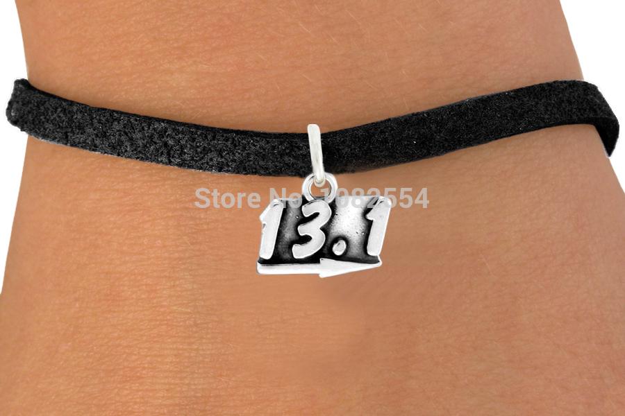 New Design 13.1 Marathon Running Sports Charm Hand-Woven Rope Leather Bracelets Bangles(China (Mainland))