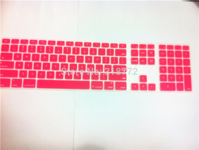50pcs Computer Desktop Color Silicone keyboard Cover Skin Protector with a numeric keypad for Apple iMac G5/G6(China (Mainland))