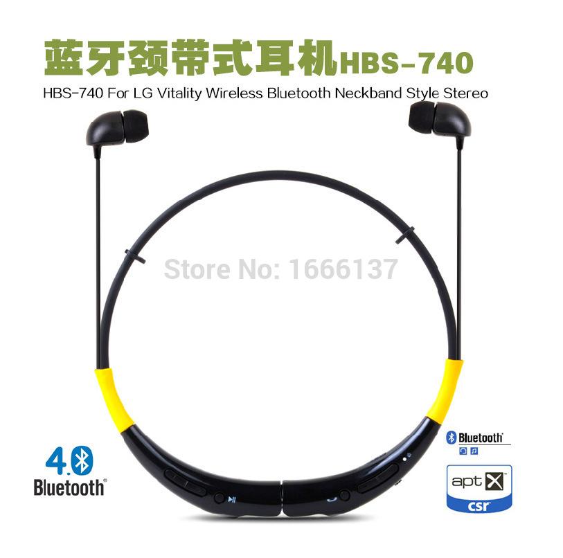Waterproof HBS740 sports Halter 4.0 binaural ear Bluetooth headset wireless stereo music a drag two(China (Mainland))