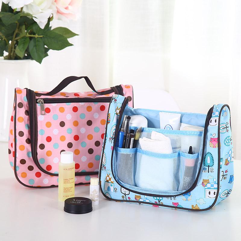 Multifunctional waterproof cosmetic bag finishing bag makeup organizer toiletry cosmetics storage bags travel wash bag(China (Mainland))