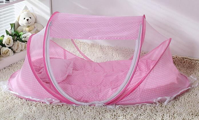 슈퍼 부드러운 핑크& 블루 아기 유아 침대 캐노피 모기 그물면 ...