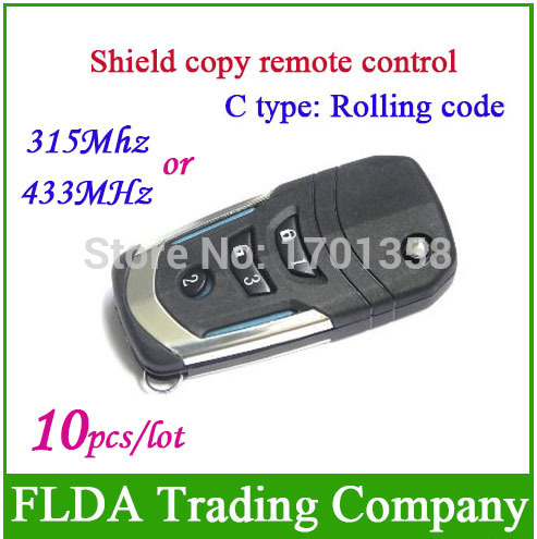 Freeshipping C type rolling code 315mhz or 433mhz Shield copy remote control Duplicator key wireless remote controller(China (Mainland))