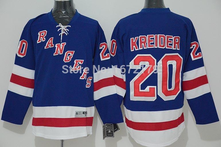 CHEAP 2015 NHL NEW YORK RANGERS HOCKEY JERSEYS #20 CHRIS KREIDER BLUE HOME PREMIER STITCHED MENS NY RANGERS HOCKEY JERSEYS(China (Mainland))