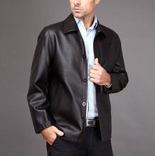 Plus Size 3XL Genuine Leather Jacket Men's Clothing Sheepskin 2015 Autumn Leather Coat Male Turn-Down Collar Outerwear(China (Mainland))