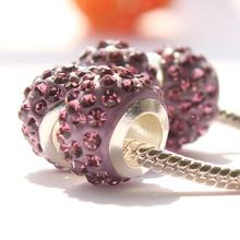 Freeshipping 3pcs lot DIY big hole Shambhala Beads Charms fit Europe pandora Bracelets necklaces accessories Jewelry