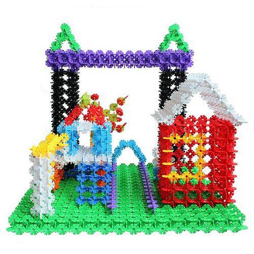 100X Kid Baby Multicolor Building Block Snowflake Creative Educational Xmas Toys 96296(China (Mainland))