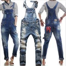 New 2015 True Jeans Men Original Denim Overalls European American Fashion Baggy Ripped Jeans For Men Hip Hop Pants Bib Trousers(China (Mainland))