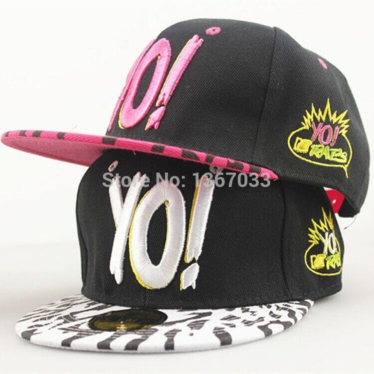 2015 Adjustable Hip Pop YO! Letters Leopard Color Embroidery Hats Casquette Snapback Strapback Women Men Basketball Baseball Cap(China (Mainland))