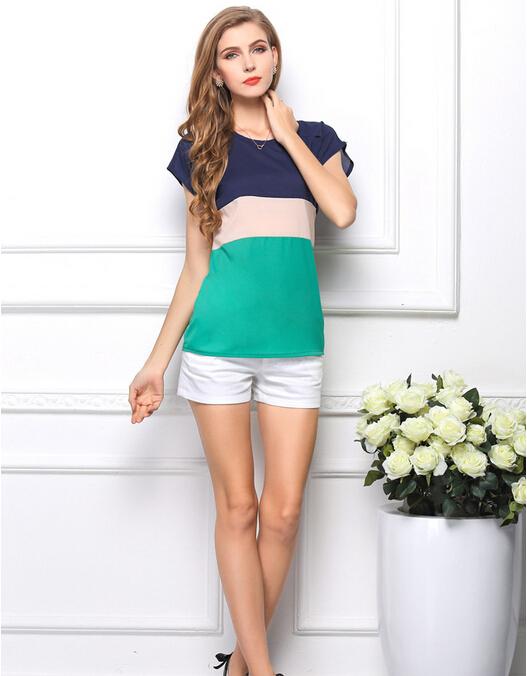 Aliexpress.com: Comprar 2015 Top moda verano gasa blusas con ...