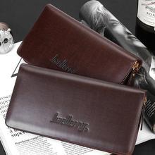 New business men wallets Single zipper Korean long paragraph men clutch bag solid color PU leather