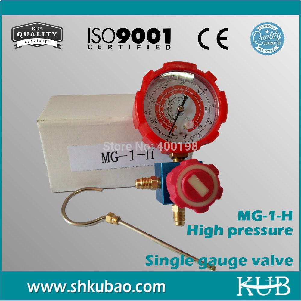 Free shipping R22 R134a R404a R410a pressure gauge refrigerant table psi kpa High pressure gauge(China (Mainland))