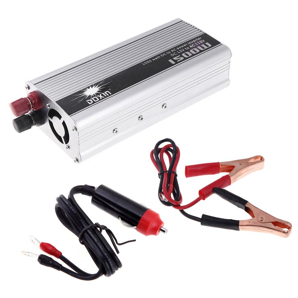 Universal 1500W Car Power Converter DC 12V to AC 110V Car Charger Portable Voltage Inverter Transformer(China (Mainland))