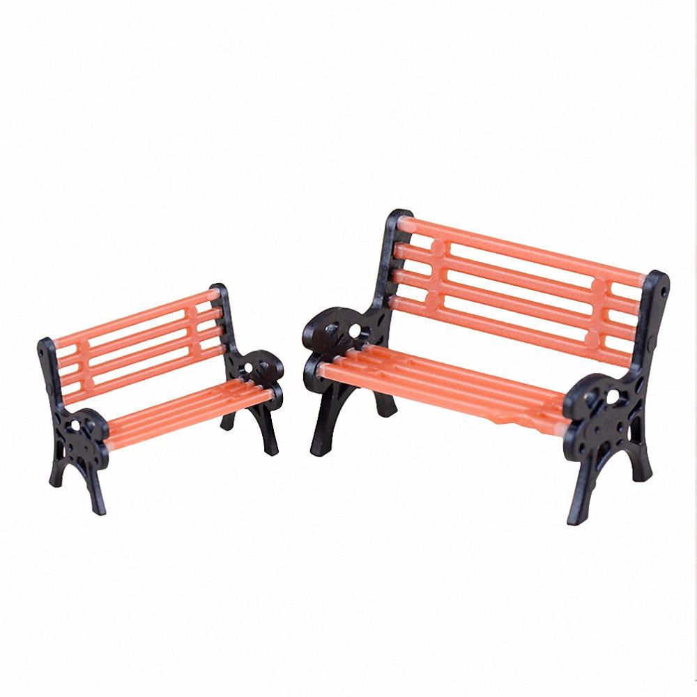 Speelgoed Keuken Accessoires Plastic : Miniature Park Bench Garden Furniture