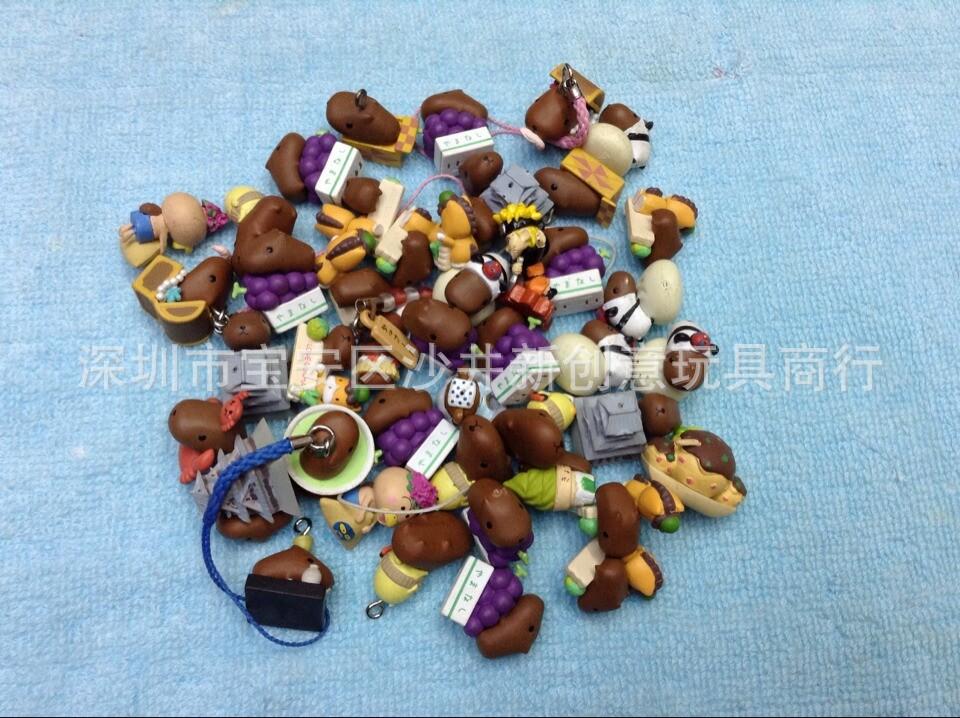 50PCS/set little Hamster Doll Action Toy Figures toy doll mini Spa Mouse Otter Jun Capybara Jun Aficiones Model ornaments(China (Mainland))