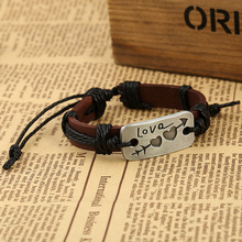 Cupid Match Up Double Heart Love Genuine leather upper Bracelet Romantic Gift for Lovers Super Value
