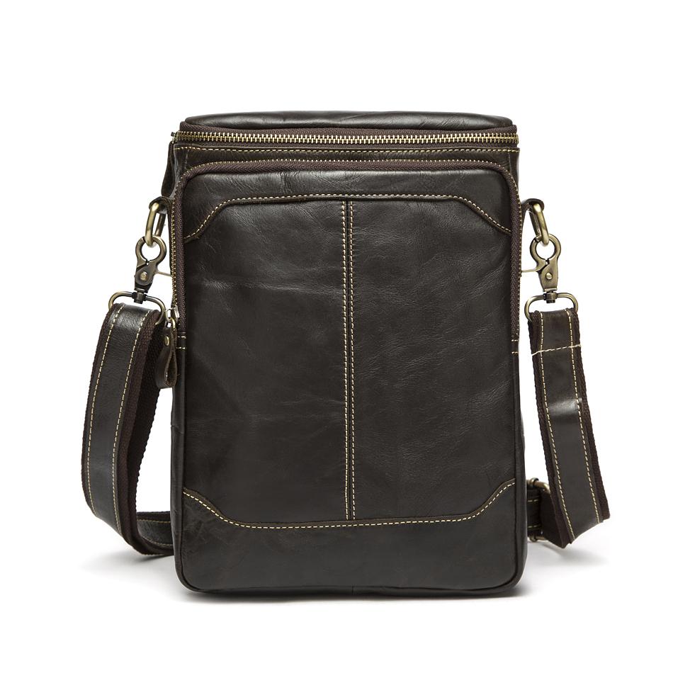 Hot selling Men bag 100% Genuine Leather bags men Messenger Bags crossbody Shoulder men's travel bag 2015 new Free Shipping(China (Mainland))