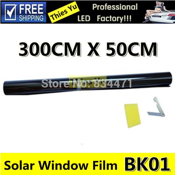 2% Car Window Film Solar Window Tint Film Scratch Resistant Tinting Black Color 50CM*300CM 2Set(China (Mainland))