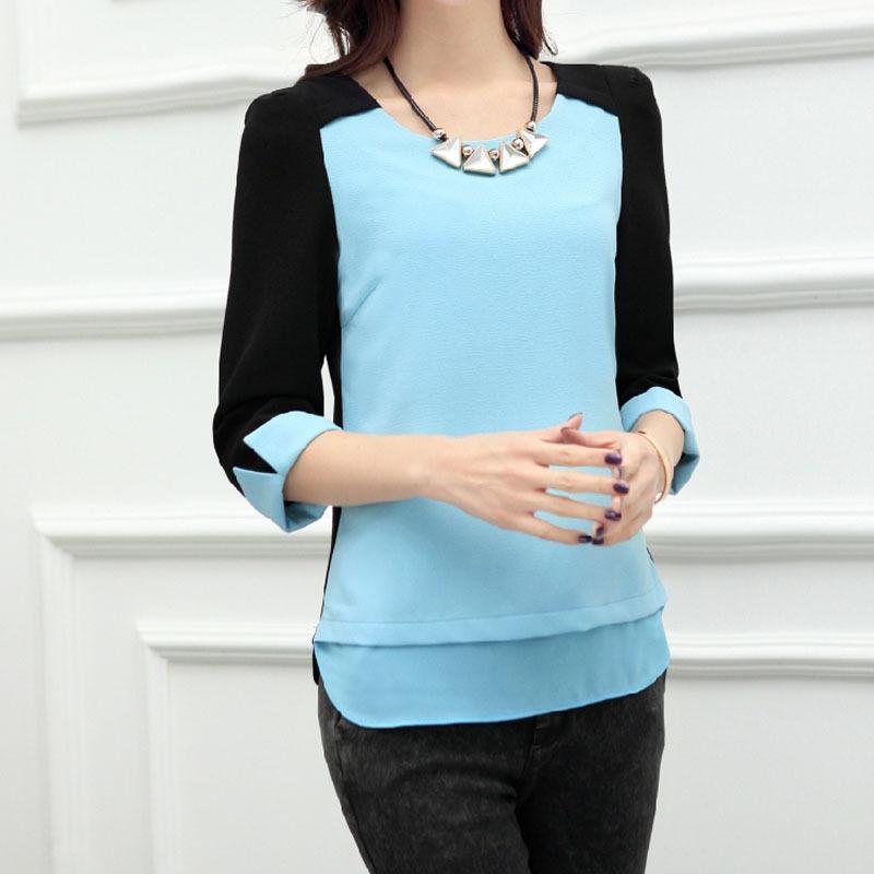 Женские блузки и Рубашки Blouse Casual 2015 Chiffon Blouse blouse luxmix blouse