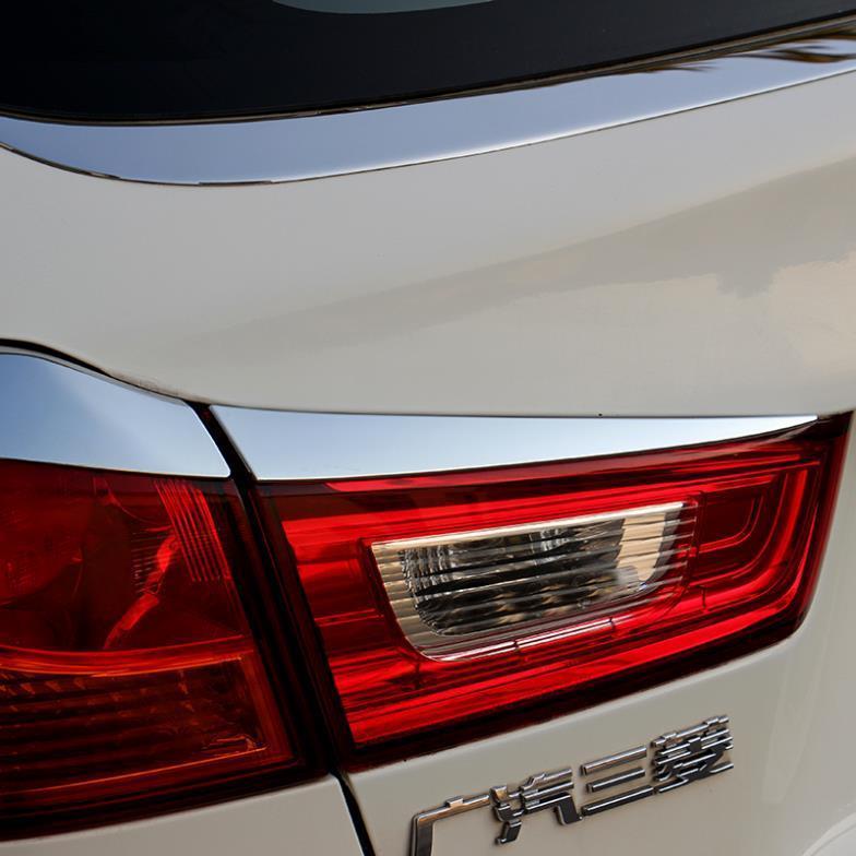Chrome Rear Headlight Headlamp Head lights Cover Trim for Mitsubishi ASX MITSUBISHI ASX Accessories 2013