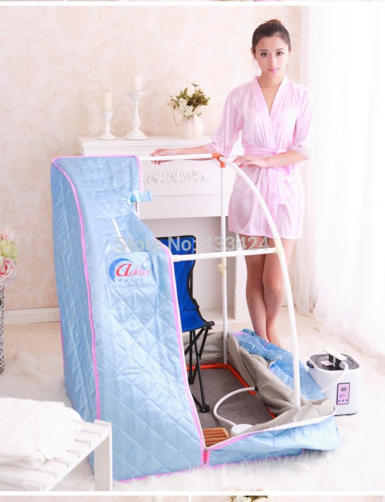 Addict Steam Sauna portable room 110V 2 liters Remote control Steamer generator cayha blue stress health fat burning body(China (Mainland))