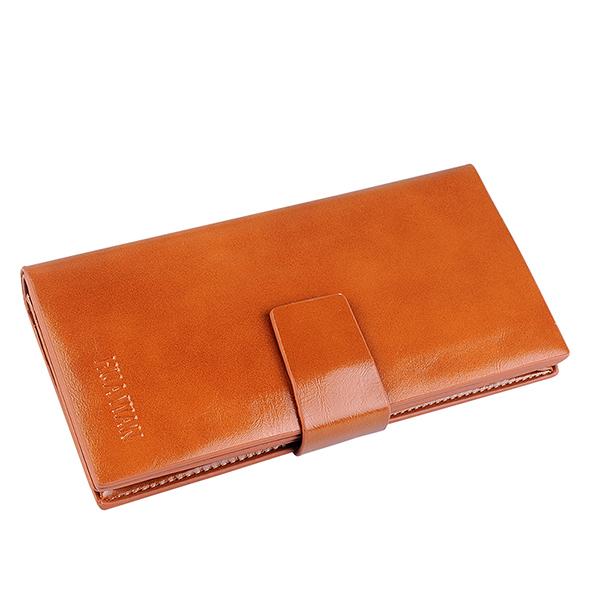 Genuine Leather Fashion Long Women Oil Wax Cowhide Wallets Hasp Solid SIM Card Holder Female Clutch Carteras Women Purse Wallet(China (Mainland))