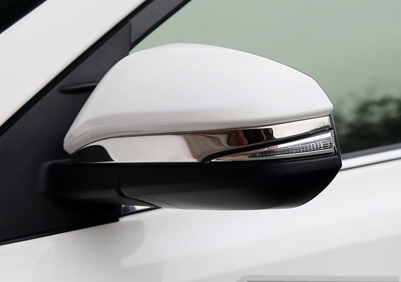 Side Door Mirrors Rearview Stripe Cover TRIM For 2013 2014 TOYOTA RAV4 RAV 4 XA40 13