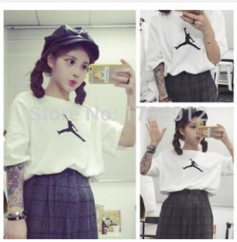 High Quality Fly Human Short sleeve women cotton t-shirt good printed tees thin loose t shirts women(China (Mainland))