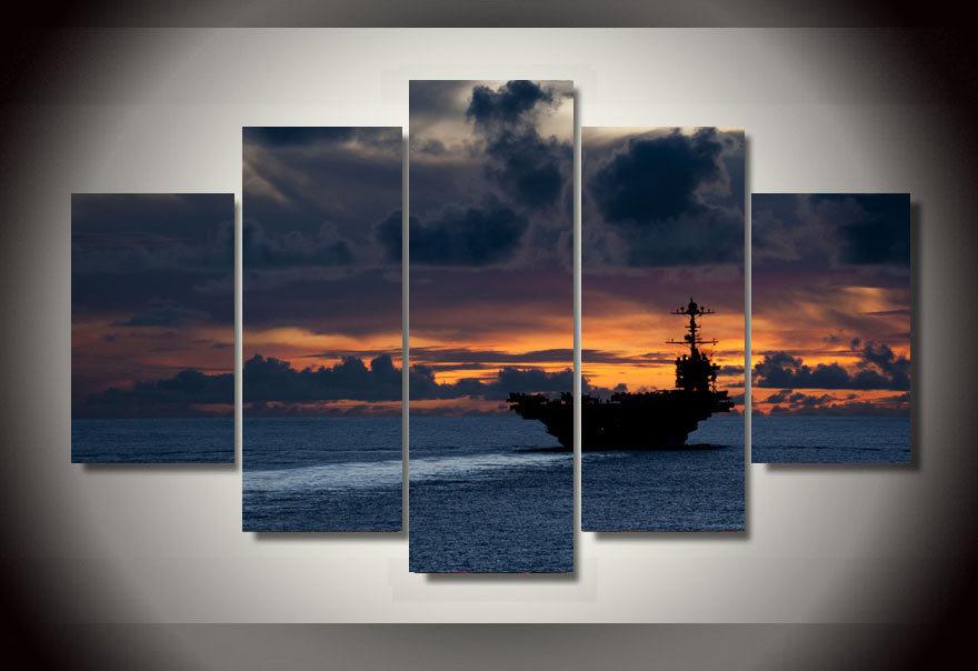 Aircraft Carrier Sunset Wallpaper Aircraft Carrier at Sunset