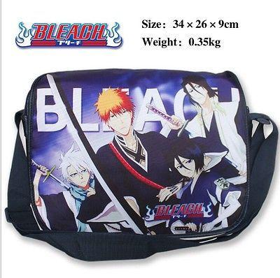 Bleach polyester shoulder bag/colorful printed w/ Kurosaki Ichigo&Kuchiki Rukia!(China (Mainland))