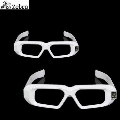 2 PCS SainSonic Zebra 144Hz 3D DLP Glasses for BenQ W1070/W750/W1080 Projector white 10M active 3d glasses virtual reality(China (Mainland))