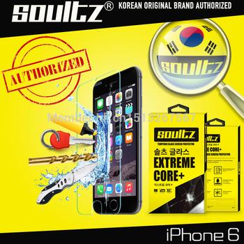 Оригинал корея SOULTZ премиум закаленное стекло экран протектор для iPhone 6 4.7 дюймов 9 H защитная пленка с розничной упаковке
