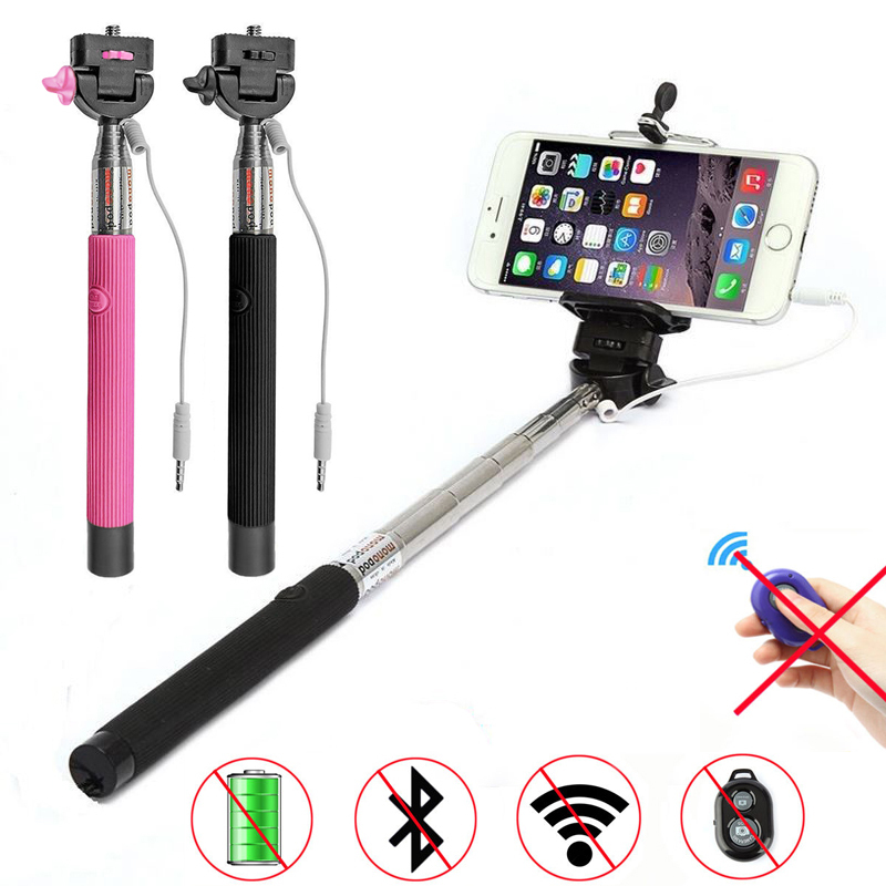 buy extendable handheld selfie monopod audio cable wired selfie stick for. Black Bedroom Furniture Sets. Home Design Ideas