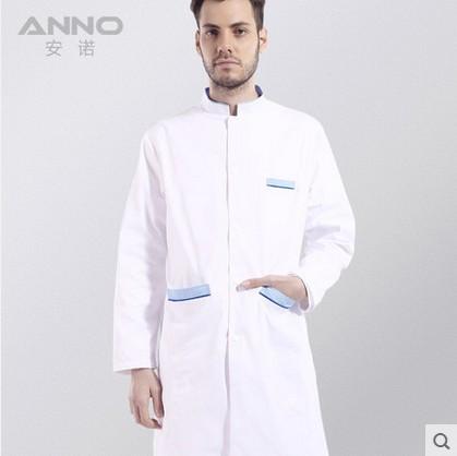 Hot selling men doctor coat medical uniform lab coat free shipping(China (Mainland))