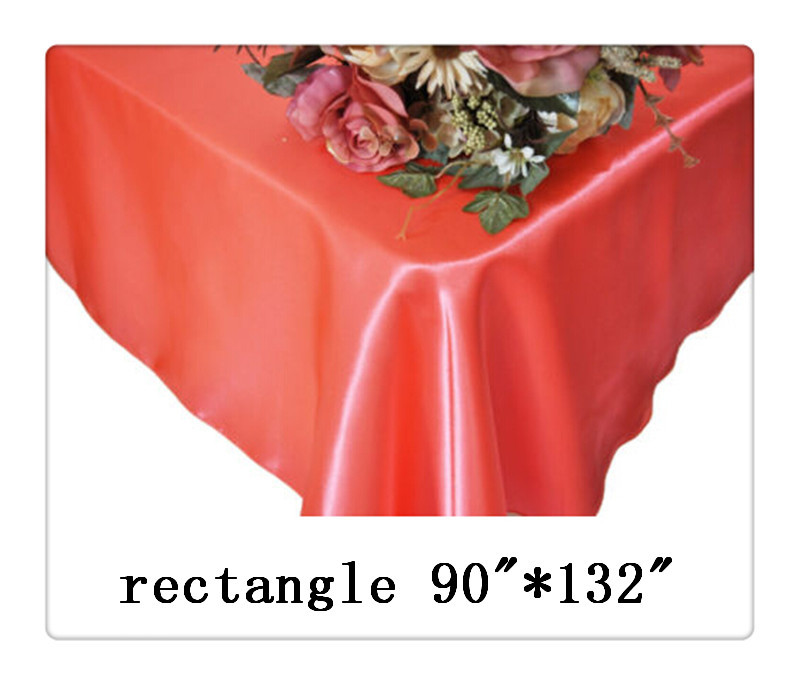 """Free shipping hot sale rectangle wedding tablecloth 90""""*132 chocolate satin restaurant hotel table cloth(China (Mainland))"""