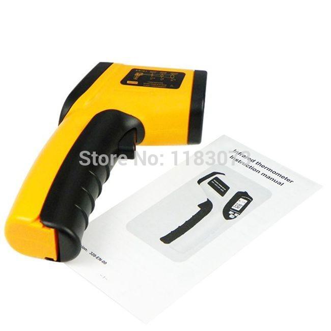 GM320 Non-Contact 12:1 LCD display IR Infrared Digital Temperature Gun Thermometer -50~330C (-58~626F) Emissivity 0.95 12:1(China (Mainland))