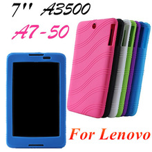 Free shipping Fashion Colorful For Lenovo A3500 A7-50 7 inch Sweety Silica Gel Soft Back Cover Case Computer Tablet Silicon Bag
