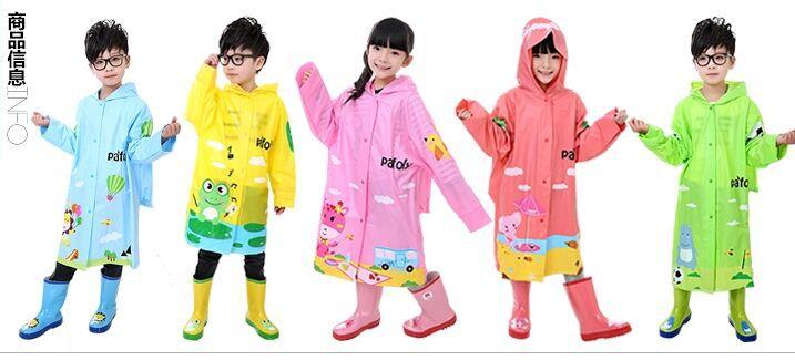 Han edition wave point children PVC raincoat(China (Mainland))