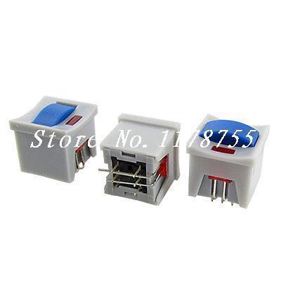 Panel Red Lamp Latching Locking Tact Tactile Push Button Switch 6P 14 x 14mm(China (Mainland))