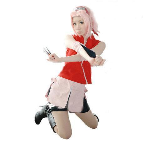 Потребительские товары Cosplay 2015 disfraces Naruto Haruno Sakura аксессуары для косплея neko cosplay