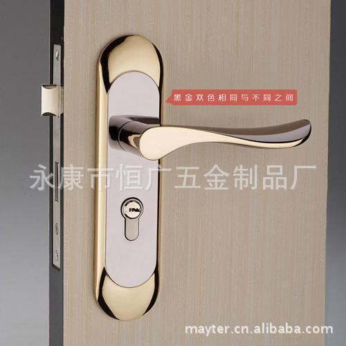 No. zinc alloy handle lock wood door interior door room door locks lock works(China (Mainland))