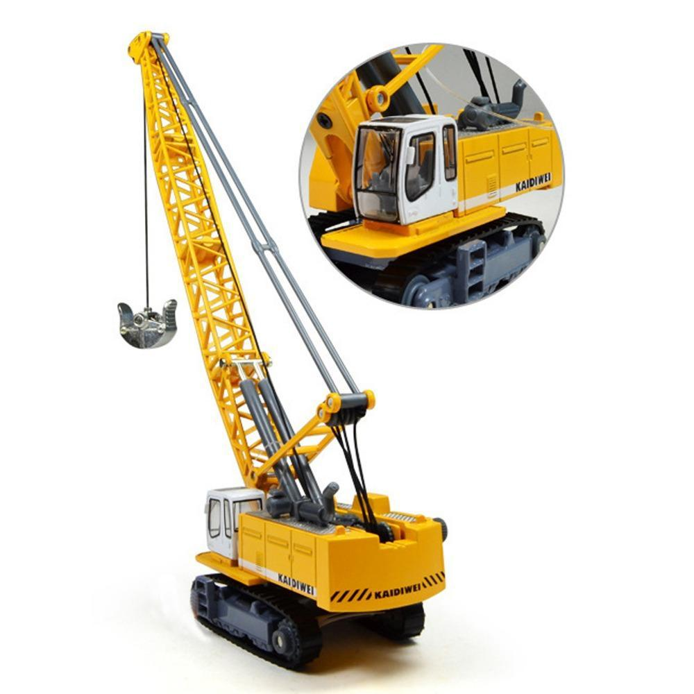 1/87 Diecast Cars Digging Vhicle Tower crane simulation car Kids Toys Alloy ABS Engineering Car Free shipping(China (Mainland))