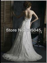 2015 New Style Custom Made Romantic Vestido De Noiva Tulle Crystal Beading Pleat Bow A Line