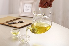 2015 hot selling 7pcs set high temperature resistant glass teapot 1pc 600ml teapot 6pcs 50ml glass