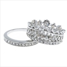 2015 New Design Women Imperial Crown Circle Rings Women Fashion Jewelry